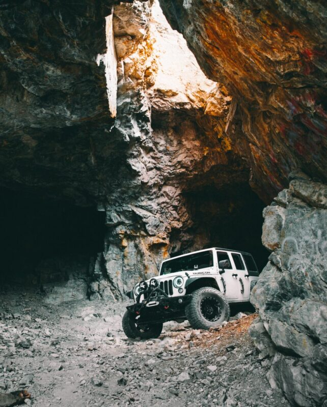 Hedley French Mine Jeep JKU Rubicon in Cave scaled e1609477851131 | Overland Lady by Monique Song