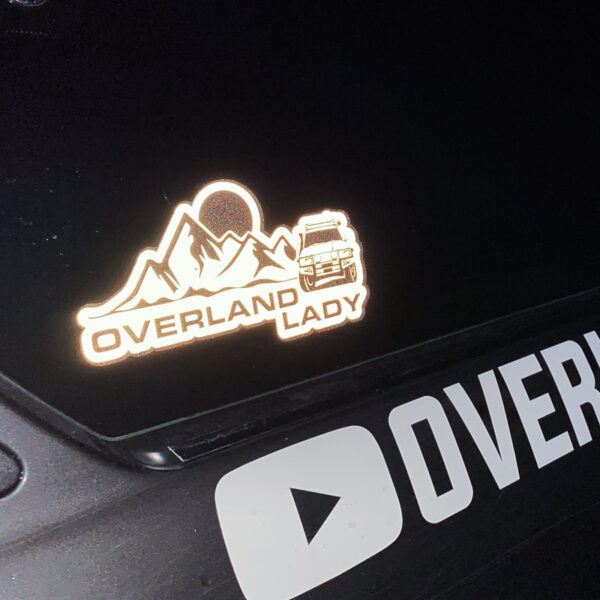 Mountain Sticker Reflective | Overland Lady by Monique Song