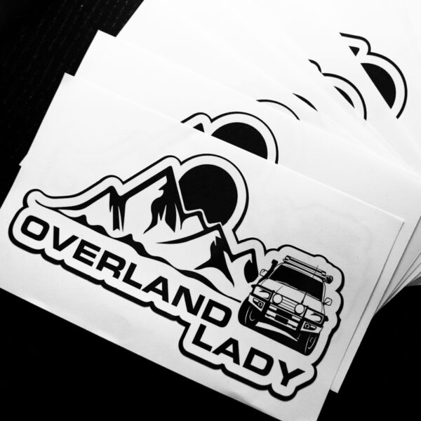 STICKER MOUNTAIN WHITE 2 | Overland Lady by Monique Song