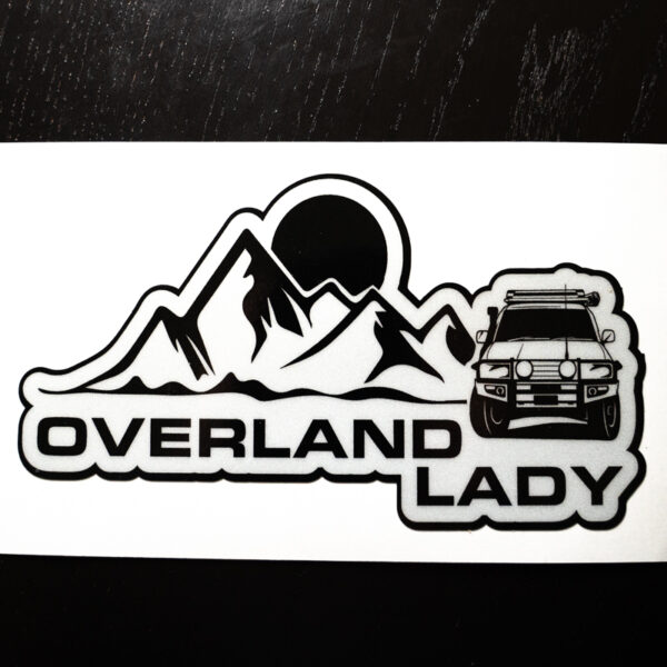 STICKER MOUNTAIN WHITE 3 | Overland Lady by Monique Song