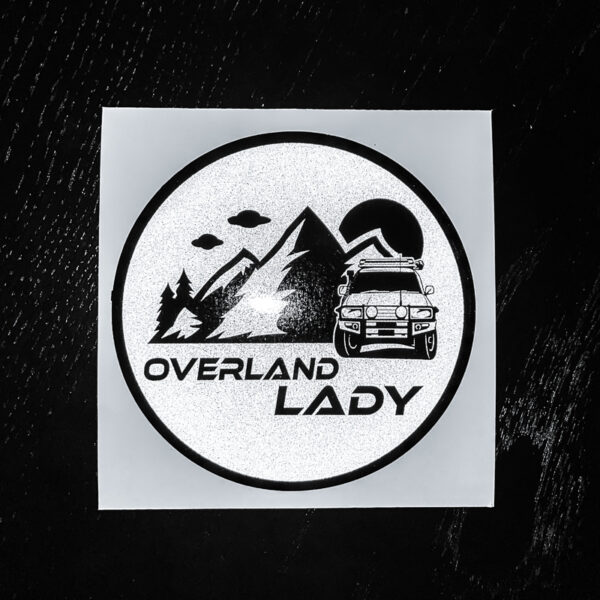 STICKER ROUND REFLECT 1 | Overland Lady by Monique Song