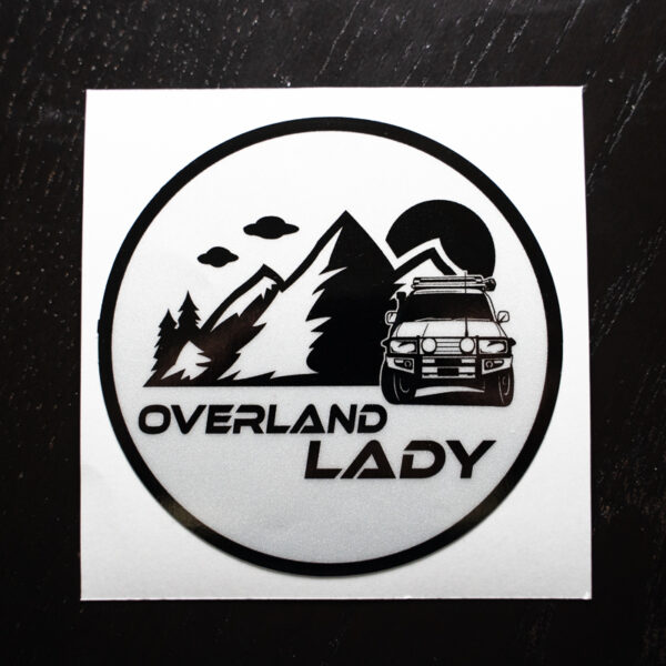 STICKER ROUND REFLECT 2 | Overland Lady by Monique Song