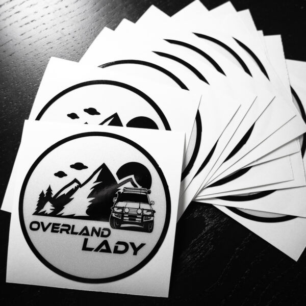 STICKER ROUND REFLECT 3 | Overland Lady by Monique Song
