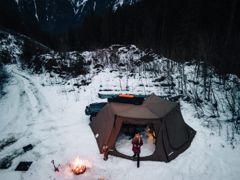 Snow Camp Landcruiser 100 series Rhino Rack 10 | Overland Lady by Monique Song