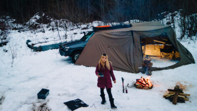 Snow Camp Landcruiser 100 series Rhino Rack 11   Overland Lady by Monique Song
