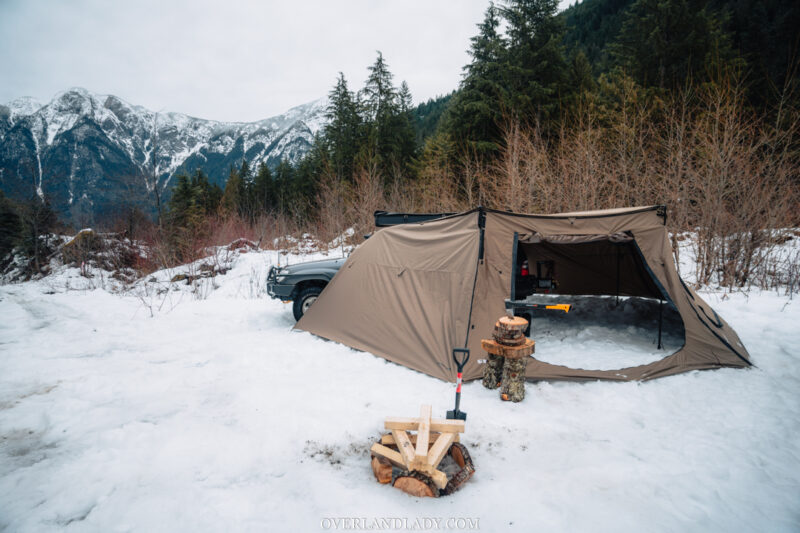 Snow Camp Landcruiser 100 series Rhino Rack 13 | Overland Lady by Monique Song