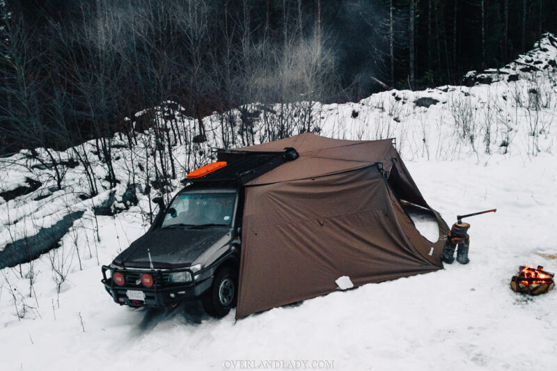Snow Camp Landcruiser 100 series Rhino Rack 14 | Overland Lady by Monique Song