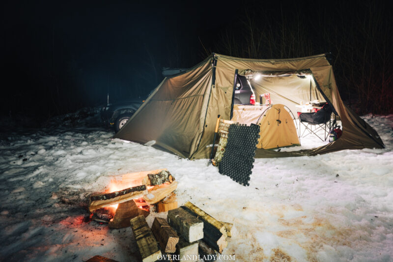 Snow Camp Landcruiser 100 series Rhino Rack 20 | Overland Lady by Monique Song