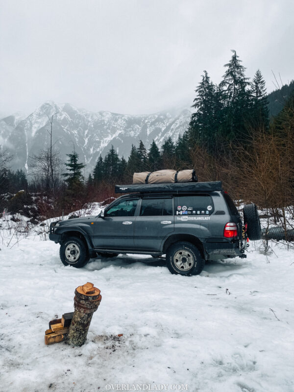 Snow Camp Landcruiser 100 series Rhino Rack 21 | Overland Lady by Monique Song