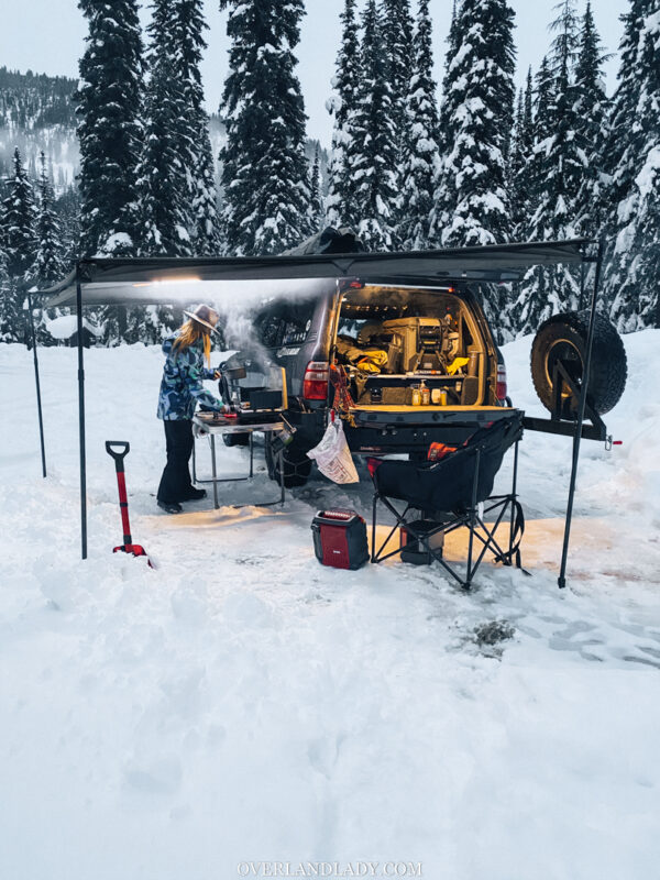Snow Camp Landcruiser 100 series Rhino Rack 36 | Overland Lady by Monique Song