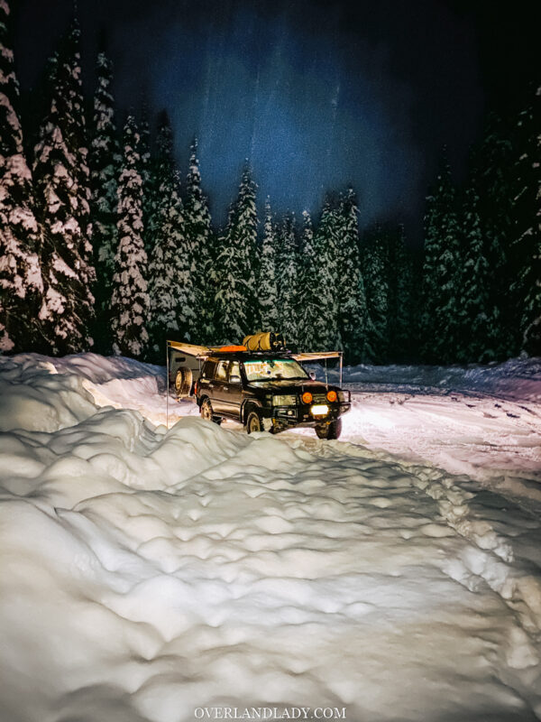 Snow Camp Landcruiser 100 series Rhino Rack 38 | Overland Lady by Monique Song