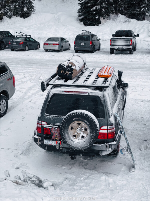 Snow Camp Landcruiser 100 series Rhino Rack 42 | Overland Lady by Monique Song