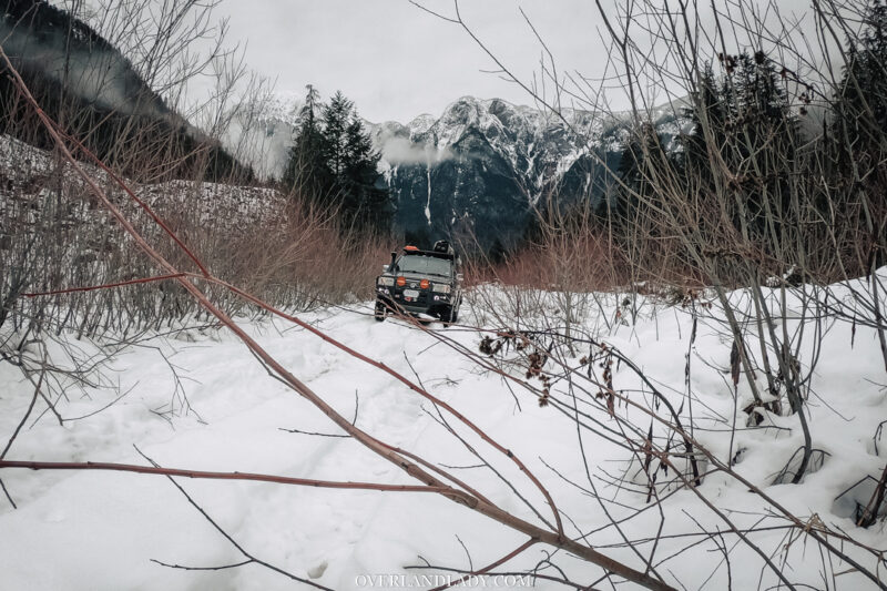 Snow Camp Landcruiser 100 series Rhino Rack | Overland Lady by Monique Song