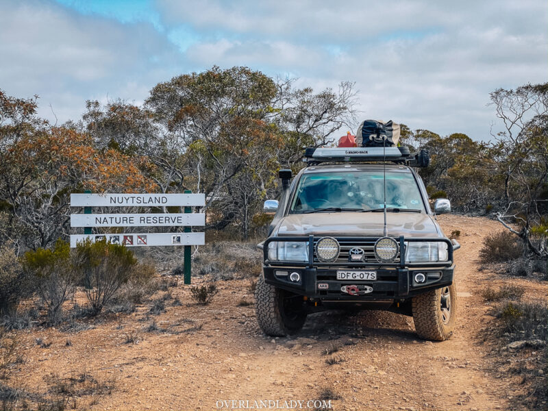 Australia longest straight road | Overland Lady by Monique Song