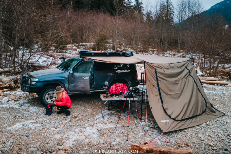 Chehalis North Camping Landcrusier 100 series Ram 7 | Overland Lady by Monique Song