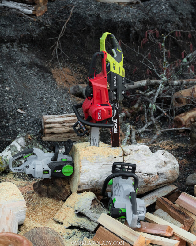 Ego Milwaukee Ryobi electric chainsaw | Overland Lady by Monique Song