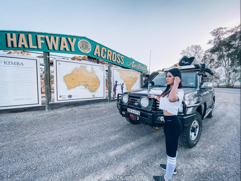 Half way across australia | Overland Lady by Monique Song