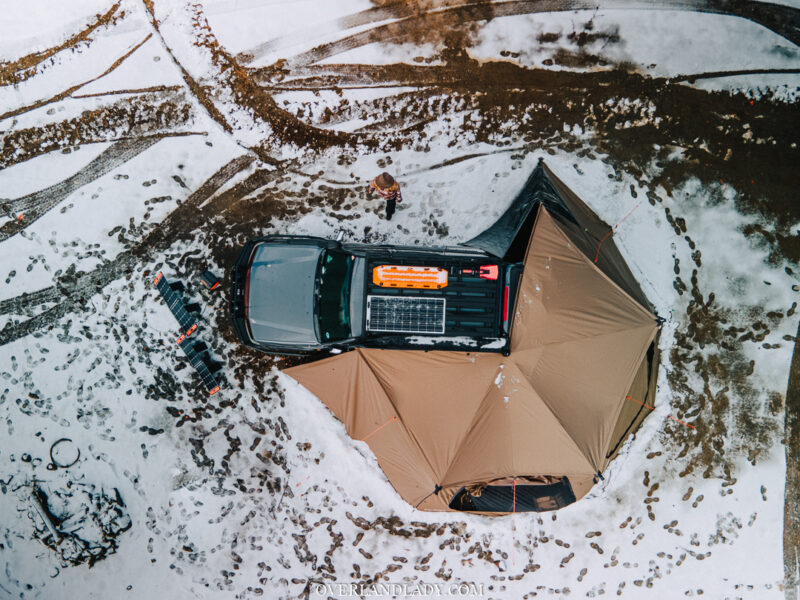 Solo Snowstorm Camping Jackery 1000 17 | Overland Lady by Monique Song