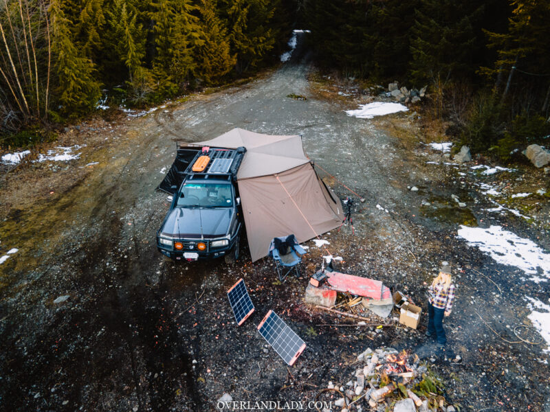 Solo Snowstorm Camping Jackery 1000 24 | Overland Lady by Monique Song