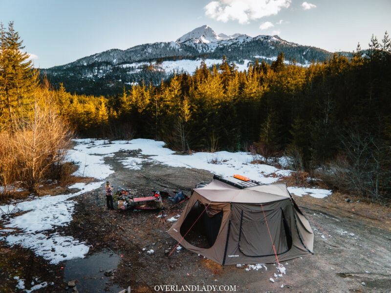 Solo Snowstorm Camping Jackery 1000 26 | Overland Lady by Monique Song