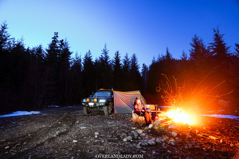 Solo Snowstorm Camping Jackery 1000 27 | Overland Lady by Monique Song