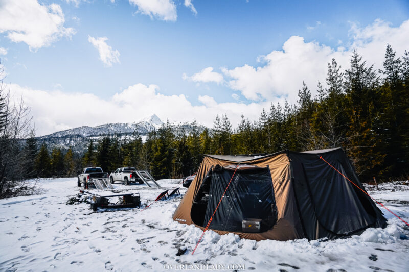 Solo Snowstorm Camping Jackery 1000 4 | Overland Lady by Monique Song