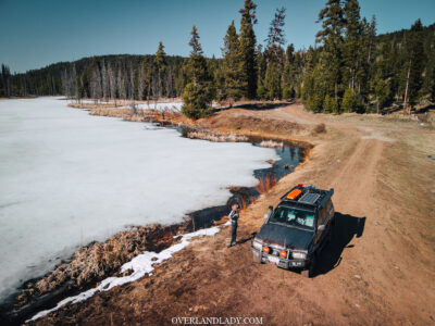 Overland Lady and Frozen Lake
