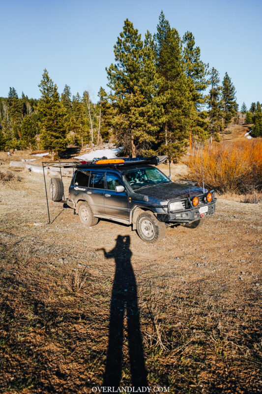 overland lady solo day1 frozen lake 6 | Overland Lady by Monique Song